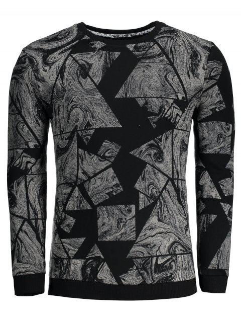 buy Abstract Print Mens Sweatshirt - BLACK XL Mobile