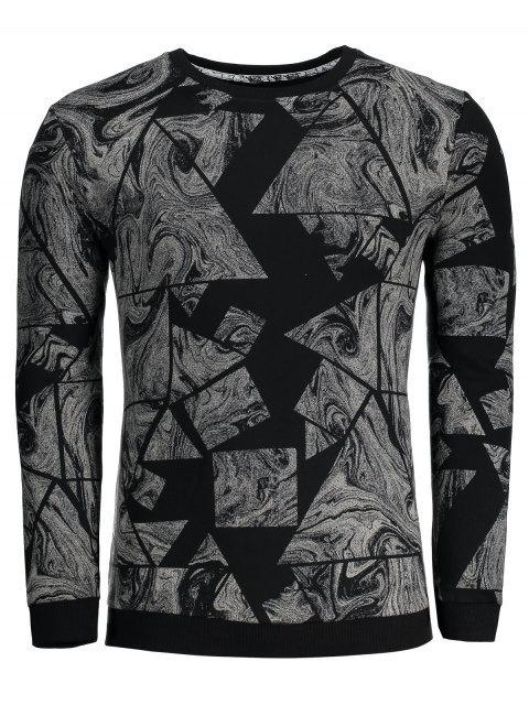 Sweat-shirt Homme Imprimé Abstrait - Noir L Mobile