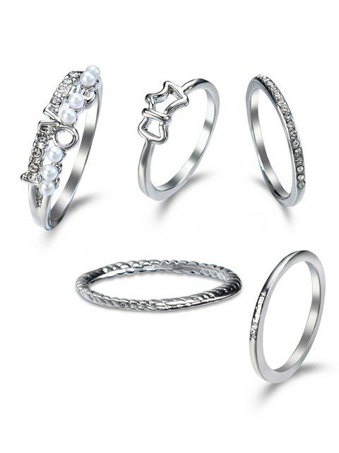 Ensemble Ring Ring - Argent  Mobile