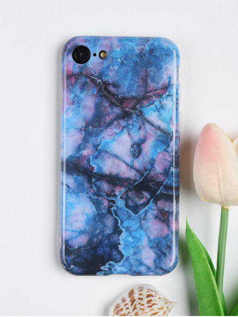 Mármol patrón suave caso del teléfono móvil para Iphone - Azul Profundo Por IPHONE 7 Mobile