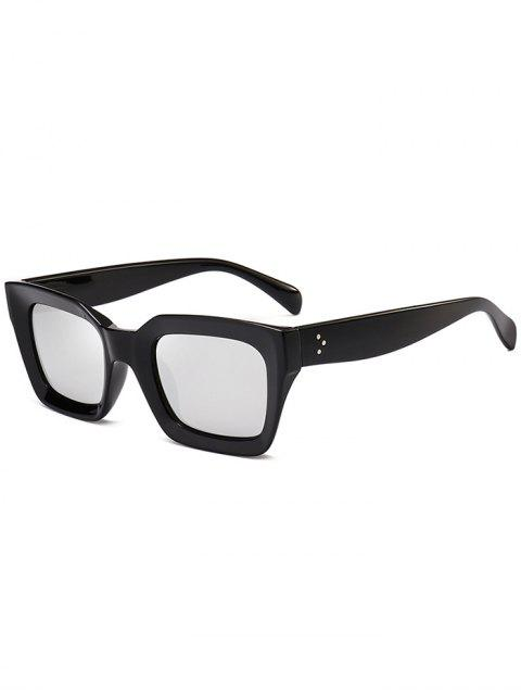 UV-Schutz Full Frame Square Sonnenbrillen - silber  Mobile