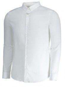 Formal 3xl Con Hombre Botones Camisa Para Blanco d8TqYdxwS