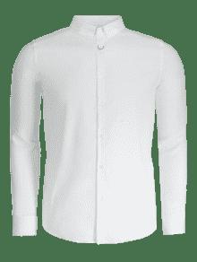 3xl Hombre Para Con Botones Formal Blanco Camisa vnx7zwE