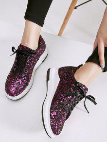 Sequined Low Heel Sneakers