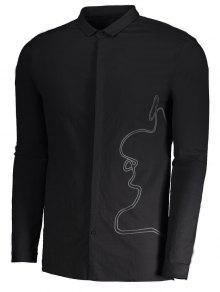 Hombre Trenzada Para Negro Camisa 2xl xXEwT688