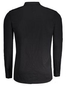 2xl Hombre Camisa Para Negro Trenzada WZOOvgp