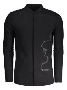 Camisa Hombre Para 2xl Negro Trenzada 8wWqWaZ1AX