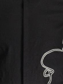 Para Negro Hombre 2xl Camisa Trenzada Oq5xAA