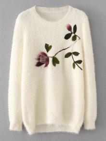 Maglione Fuzzy floreale allentato