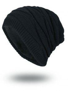 التراص الشريط سلوشي حك قبعة صغيرة - أسود