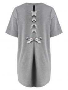 Vestido De Talla Grande Para La Espalda - Gris 5xl