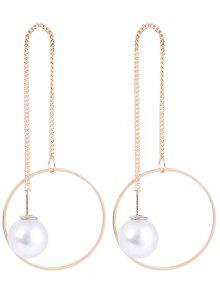Boucles D'oreilles Perles Pendentif - Or