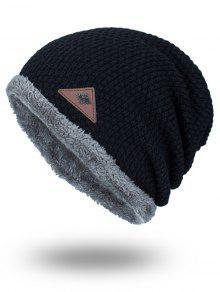 مثلث تسمية رقيق لوحة رشاقته حك قبعة - أسود