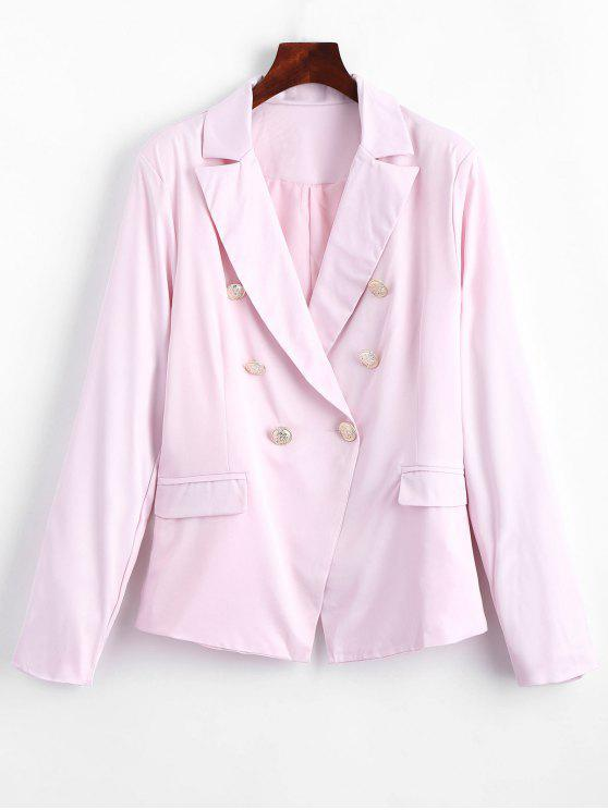 Faux Pockets Button Embellished Blazer - Rosa M