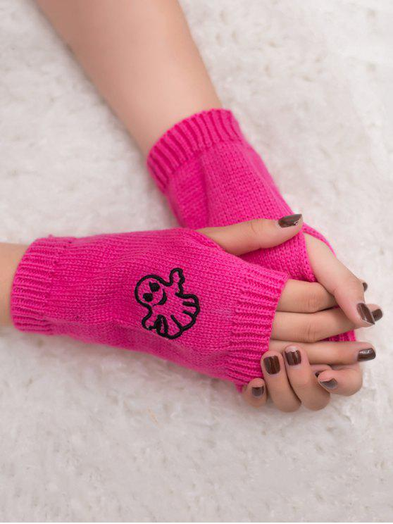 affordable Halloween Ghost Fingerless Knitted Gloves - TUTTI FRUTTI