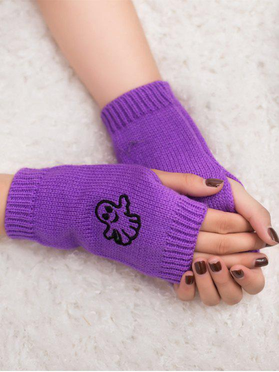 Ghost di Halloween Guanti Fingerless Knitted - viola