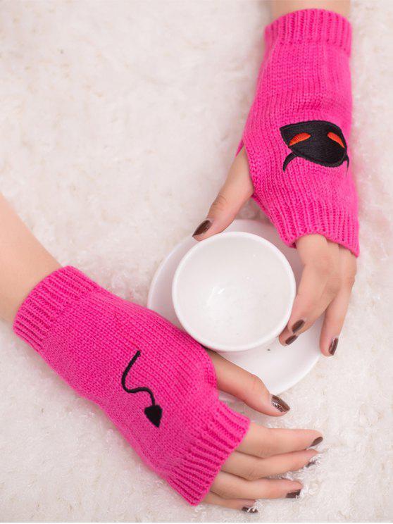 Halloween Diablo guantes de punto sin dedos - Cientos de Fructosa