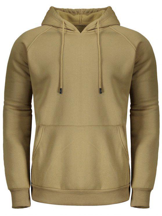 affordable Fleece Hoodie for Men - KHAKI 2XL