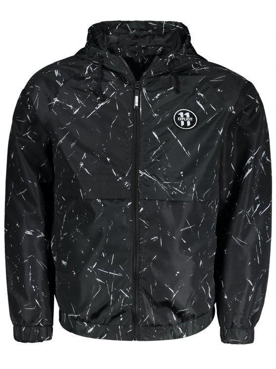Revestimento de casaco com capuz com capuz - Preto 2XL
