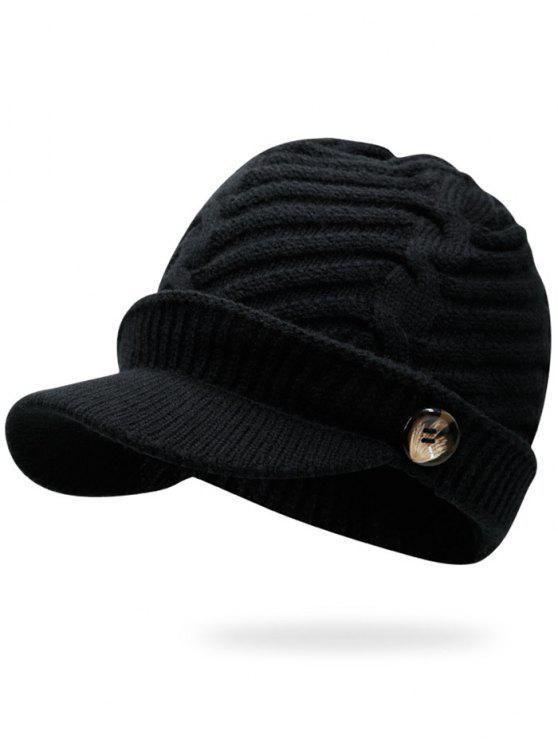 Mixcolor Kabel Strick Military Hat - Schwarz
