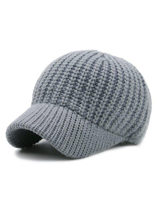 32 Off 2019 Plain Ribbed Knit Baseball Hat In Icelandic Zaful