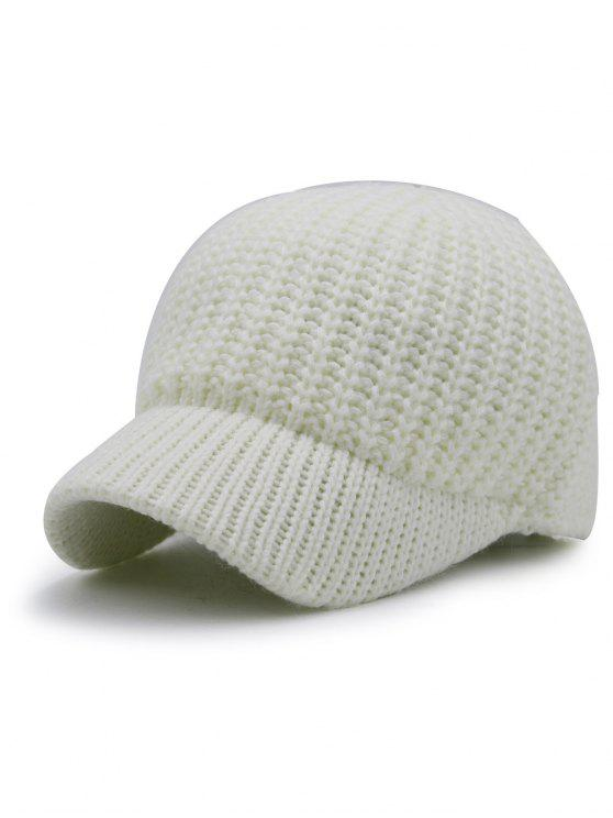 6668880f368 32% OFF  2019 Plain Ribbed Knit Baseball Hat In WHITE