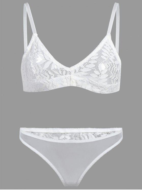 784ac012e1 2018 Lace Triangle Bralette Set In WHITE L