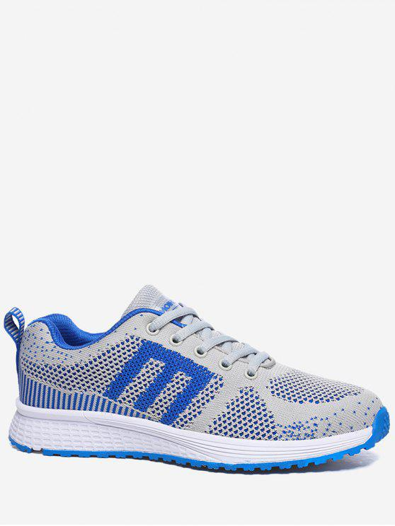 outfit Letter Contrasting Color Athletic Shoes - ROYAL 35