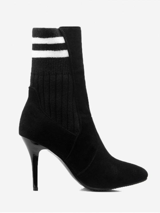 bottines ray es avec talons aiguilles noir bottes et bottines 36 zaful. Black Bedroom Furniture Sets. Home Design Ideas