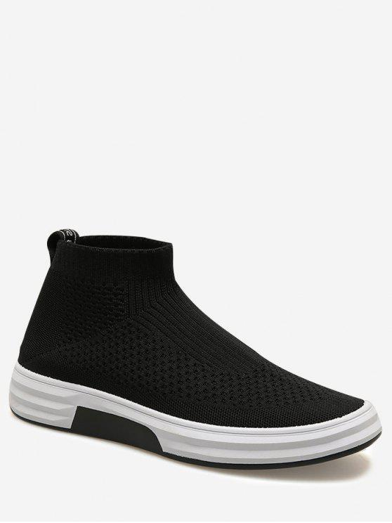 new Letter Slip On Casual Shoes - BLACK 40