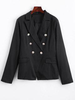 Faux Pockets Button Embellished Blazer - Black S