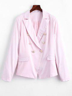 Faux Pockets Button Embellished Blazer - Pink S