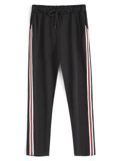 Drawstring Running Pants - Black