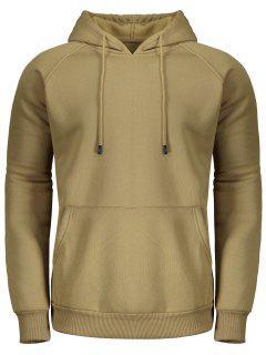 Fleece Hoodie For Men - Khaki Xl