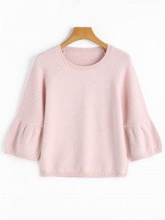 Suéter Con Textura Recortada - Rosado Claro L