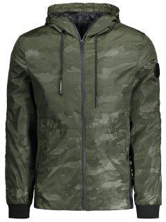Hooded Camo Feld Jacke - Bundeswehrgrün Xl