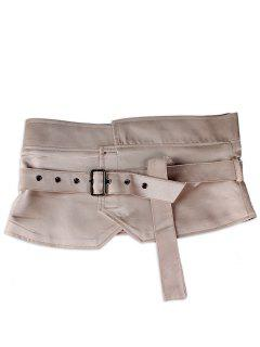 Faux Suede Leather Chunky Waist Belt - Pink