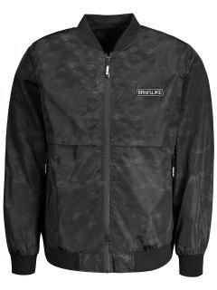Printed Bomber Jacket For Men - Black Xl