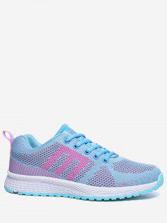 Letter Contrasting Color Athletic Shoes - Light Blue 36