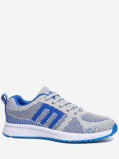 Letter Contrasting Color Athletic Shoes - Royal 36