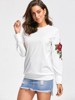 Embroidery Applique Sweatshirt - Off-white M