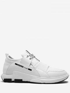 Contrasting Color Splicing Letter Sneakers - White 40