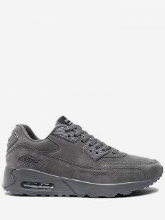 Letter Stitching Lace Up Sneakers - Gray 42