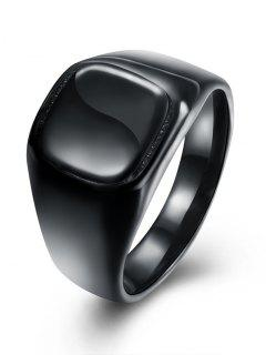 Alloy Vintage Geometric Finger Ring - Black 7
