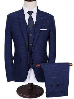 Functional Pocket One 3-Piece Business Suit - Blue 3xl