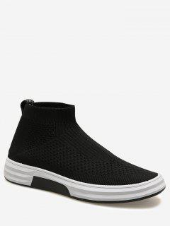 Letter Slip On Casual Shoes - Black 40