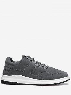 Lace Up Stitching Sneakers - Gray 44