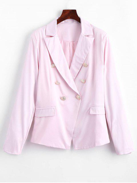 Faux Pockets Button Embellished Blazer - Rosa L Mobile