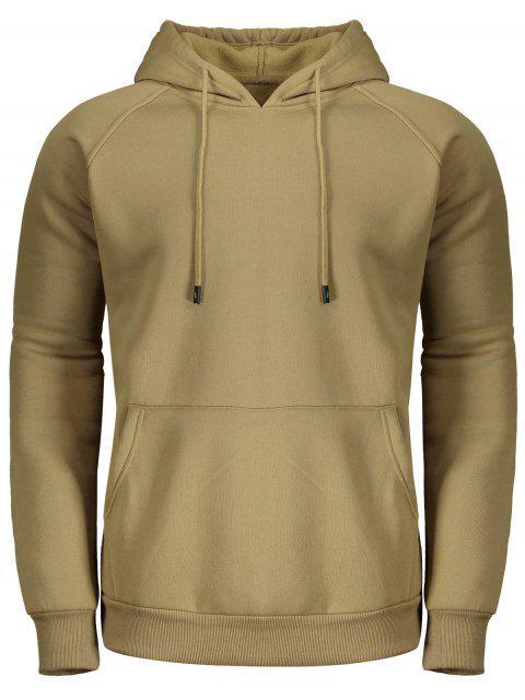 Fleece-Hoodie für Männer - Khaki M Mobile