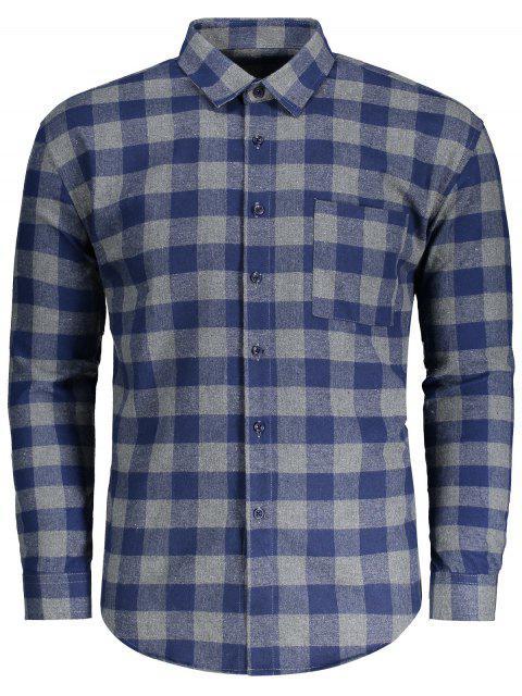 Camisa de tela escocesa de franela de bolsillo - Cuadro M Mobile